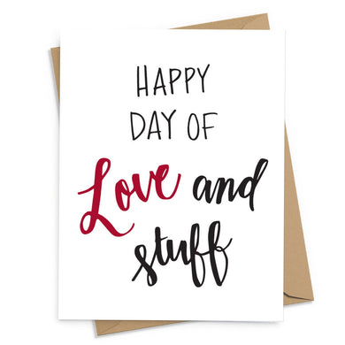 Love and Stuff Card