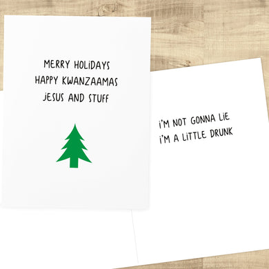 Drunk Christmas Holiday Card