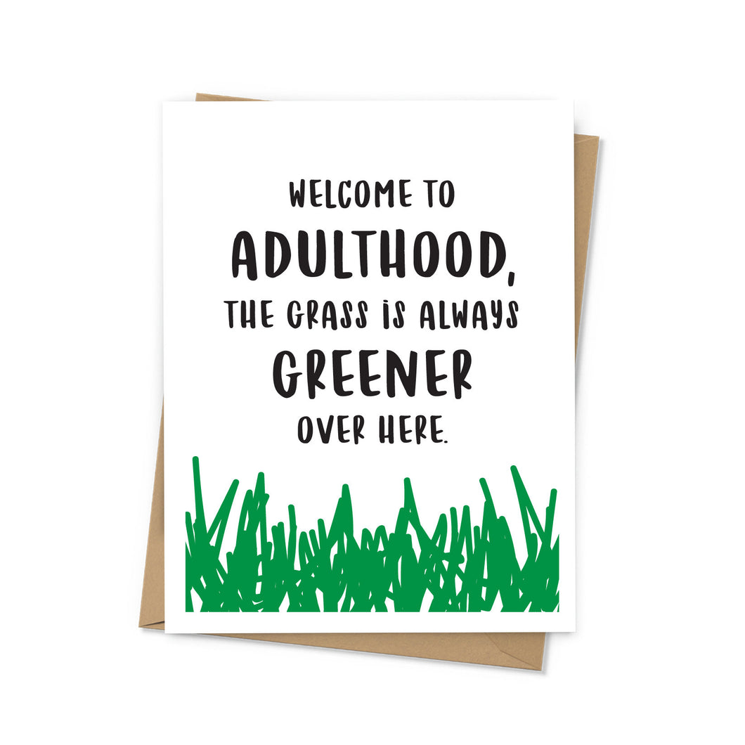 Welcome to Adulthood Graduation Card