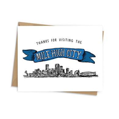 Mile High City Thank You Card