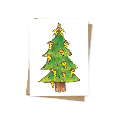 Pizza Tree Holiday Card