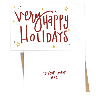 Sweet Ass Holiday Card