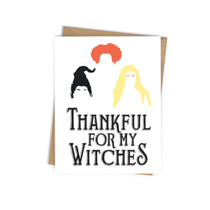 Thankful for My Witches Card