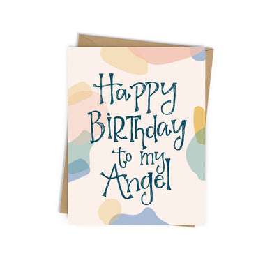 Happy Birthday to My Angel Birthday Card