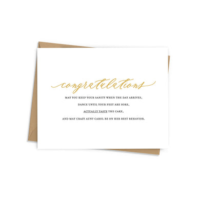 Enjoy the Moment Wedding Card