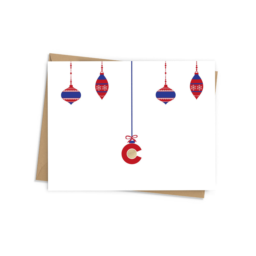 CO Ornaments Foil Holiday Card