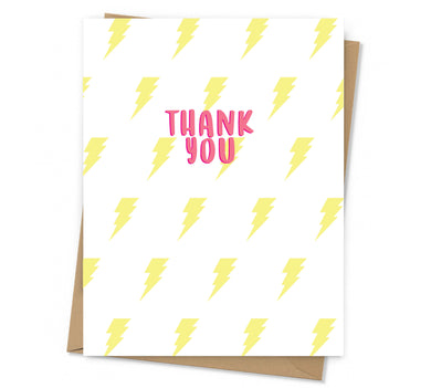 Lightning Thank You Card