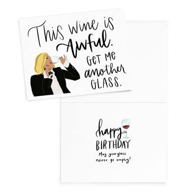 Moira Rose Wine Birthday Card