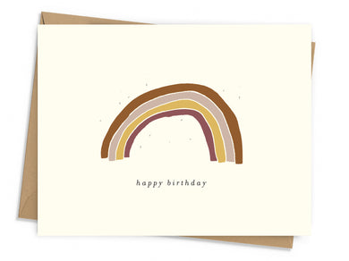 Vintage Rainbow Birthday Card