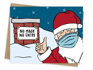 No Mask, No Entry Holiday Card