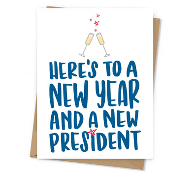 New Year New President Holiday Card