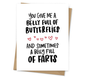 Belly Full of Farts Love Card