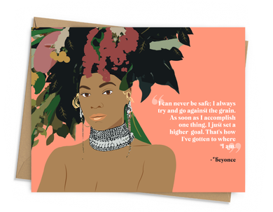Beyonce Quote Card
