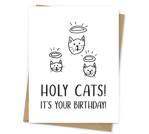 Holy Cats Birthday Card