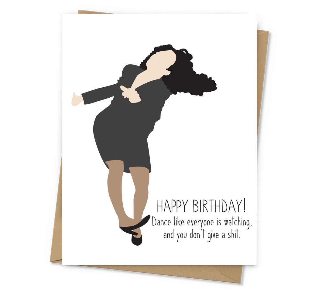 Elaine Dance Birthday Card