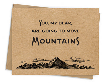 Move Mountains Encouragement Card