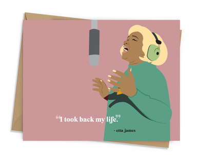 Etta James Quote Card
