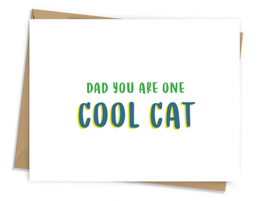 Cool Cat Father's Day Card