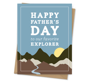 Explorer Father's Day Card