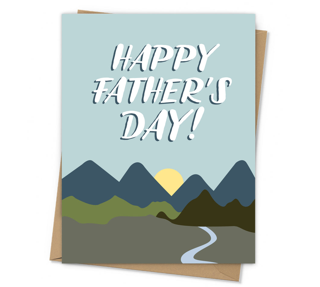 Mountain Scene Father's Day Card