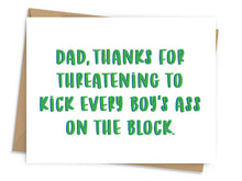Load image into Gallery viewer, Threatening Father's Day Card