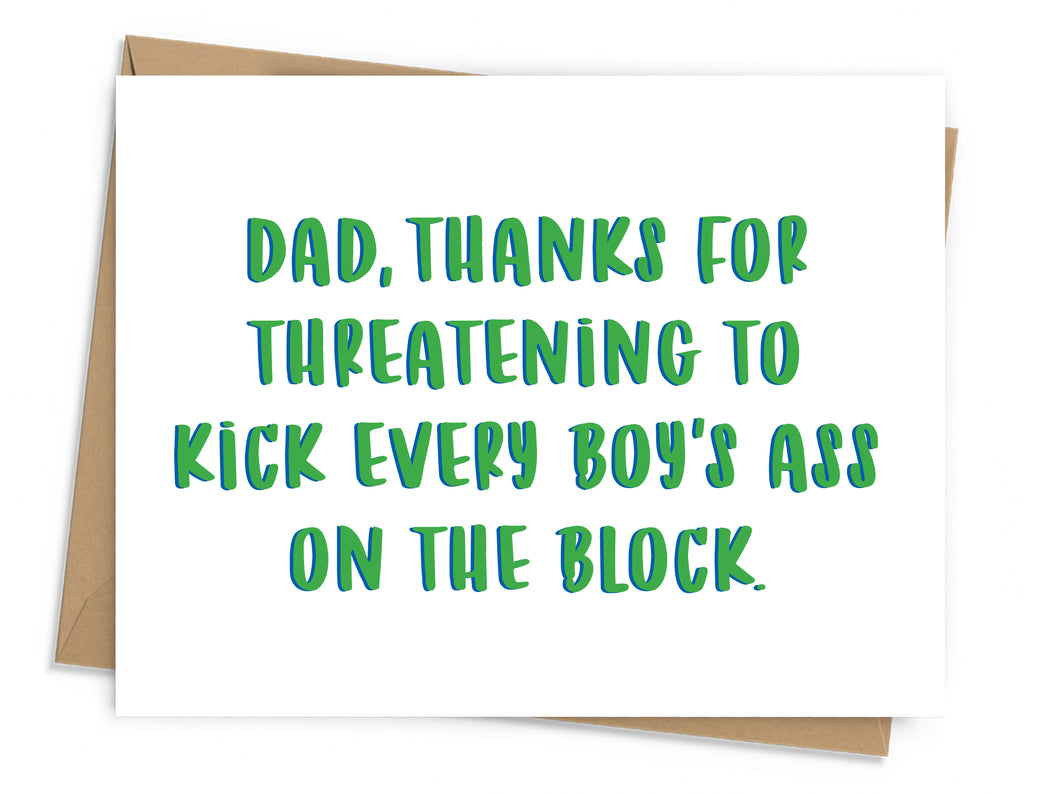 Threatening Father's Day Card
