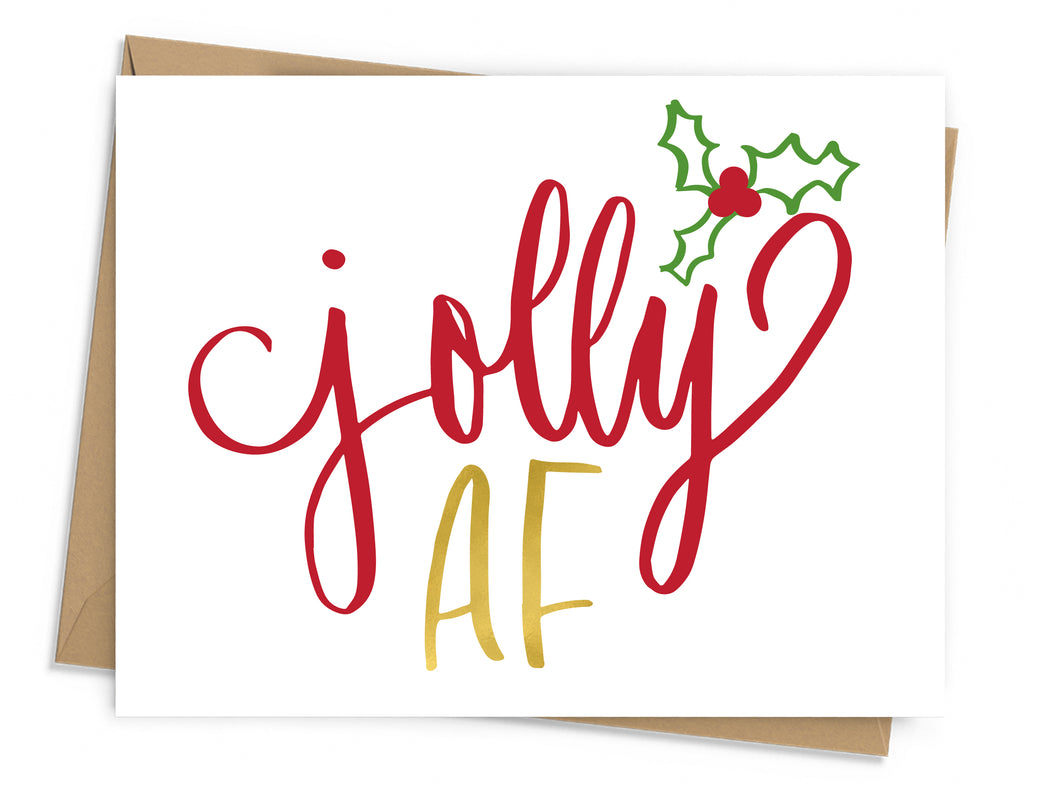 Jolly AF Holiday Card