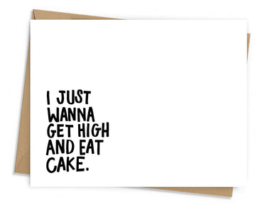 Get High, Eat Cake Card