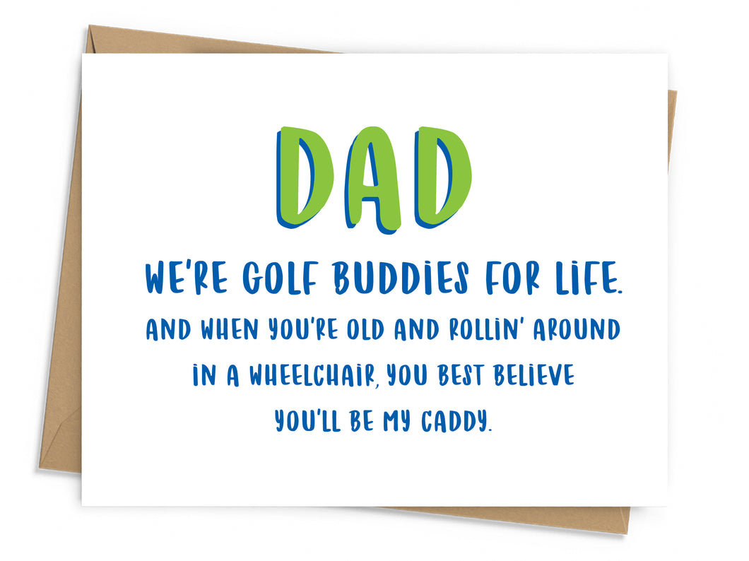 Golf Buddies Father's Day Card