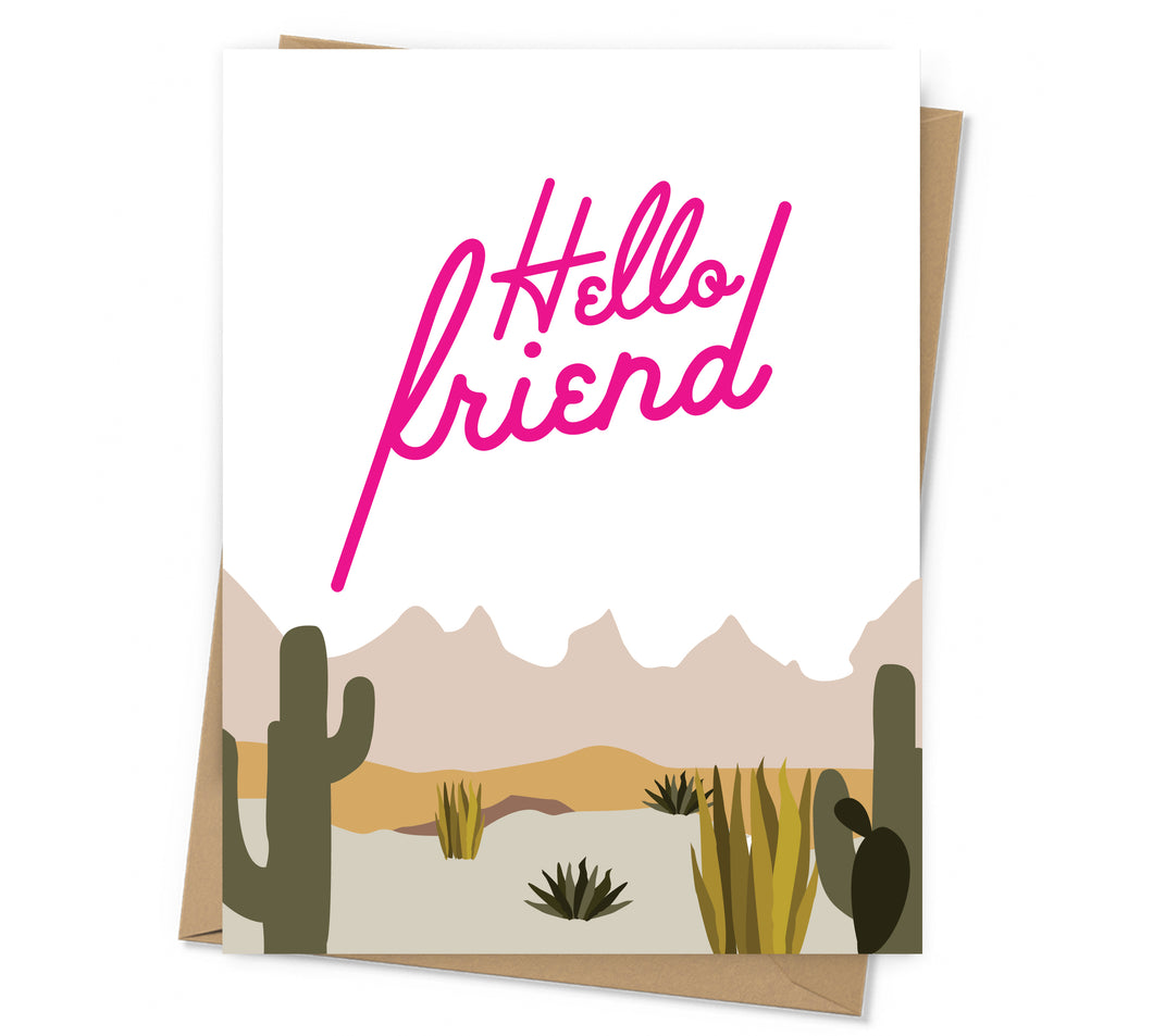 Hello Friend Just Because Card
