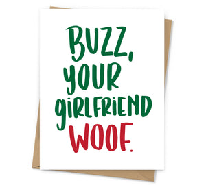 Buzz, Your Girlfriend Holiday Card