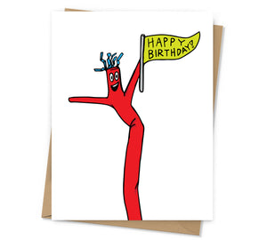 Inflatable Tubeman Birthday Card