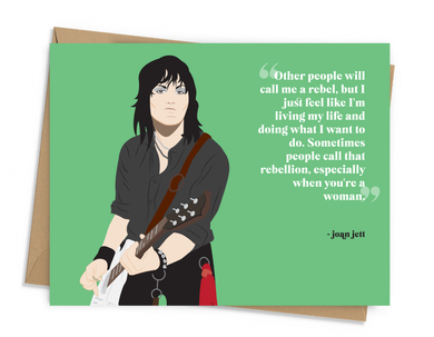 Joan Jett Quote Card