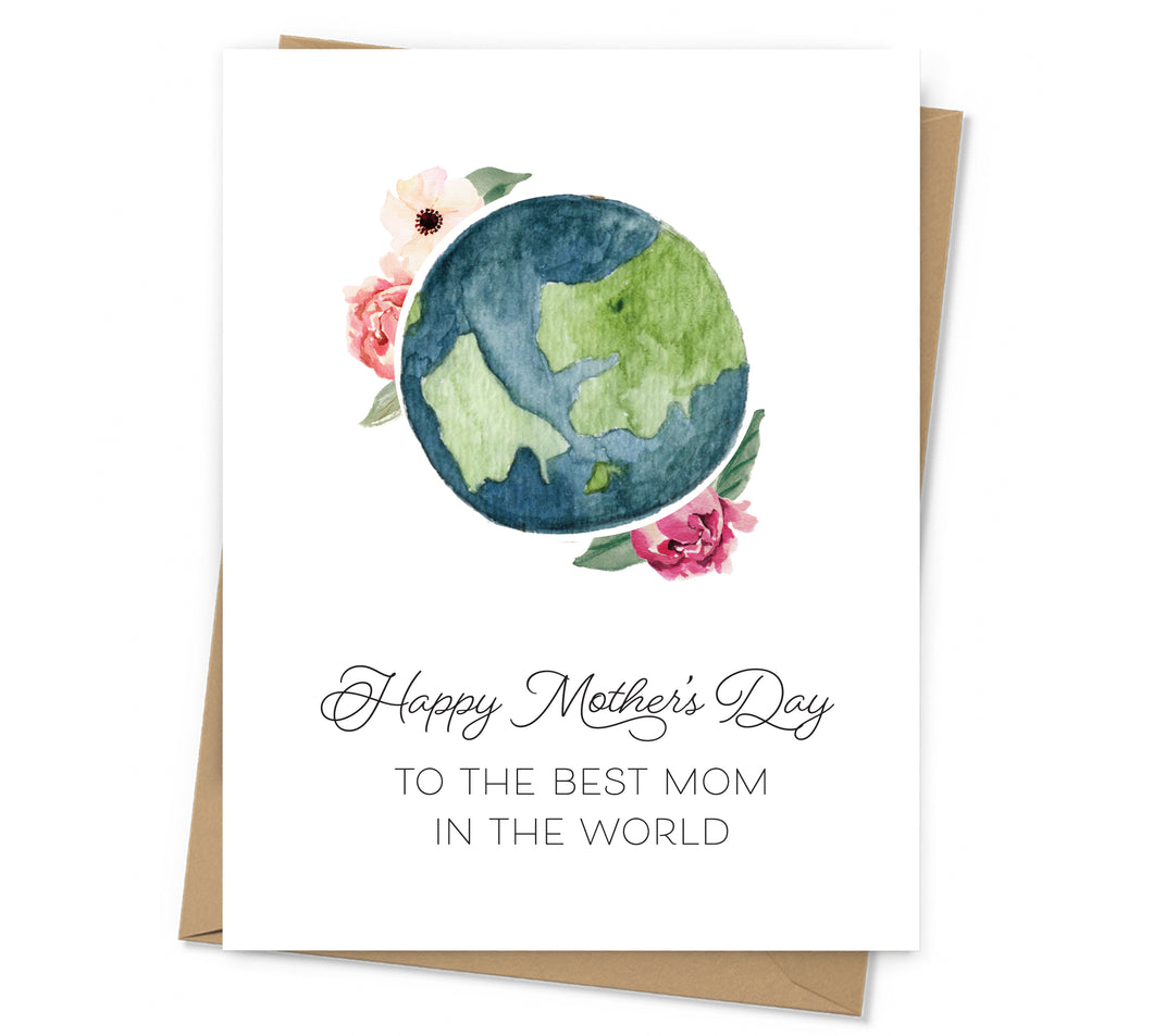 Best Mom in the World Mother's Day Card