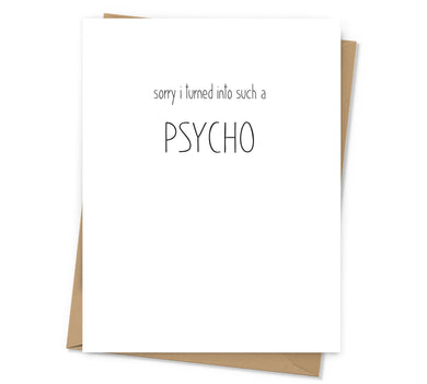 Such a Psycho Apology Card