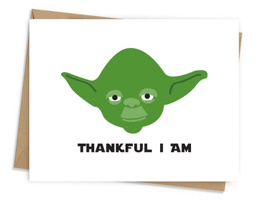 Thankful I Am Yoda Card