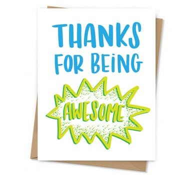 Being Awesome Thank You Card