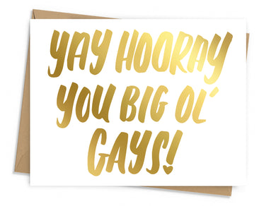 Big Ol' Gays Congratulations Card