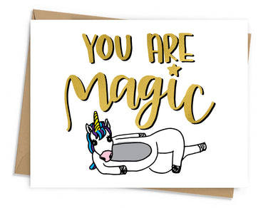 You Are Magic Unicorn Card