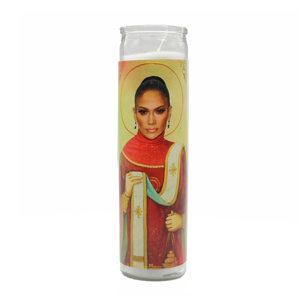 Load image into Gallery viewer, JENNIFER LOPEZ PRAYER CANDLE -