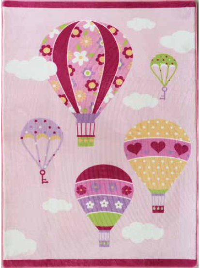 Tappeto Candy Mongolfiere 100x150 cm - Sobel
