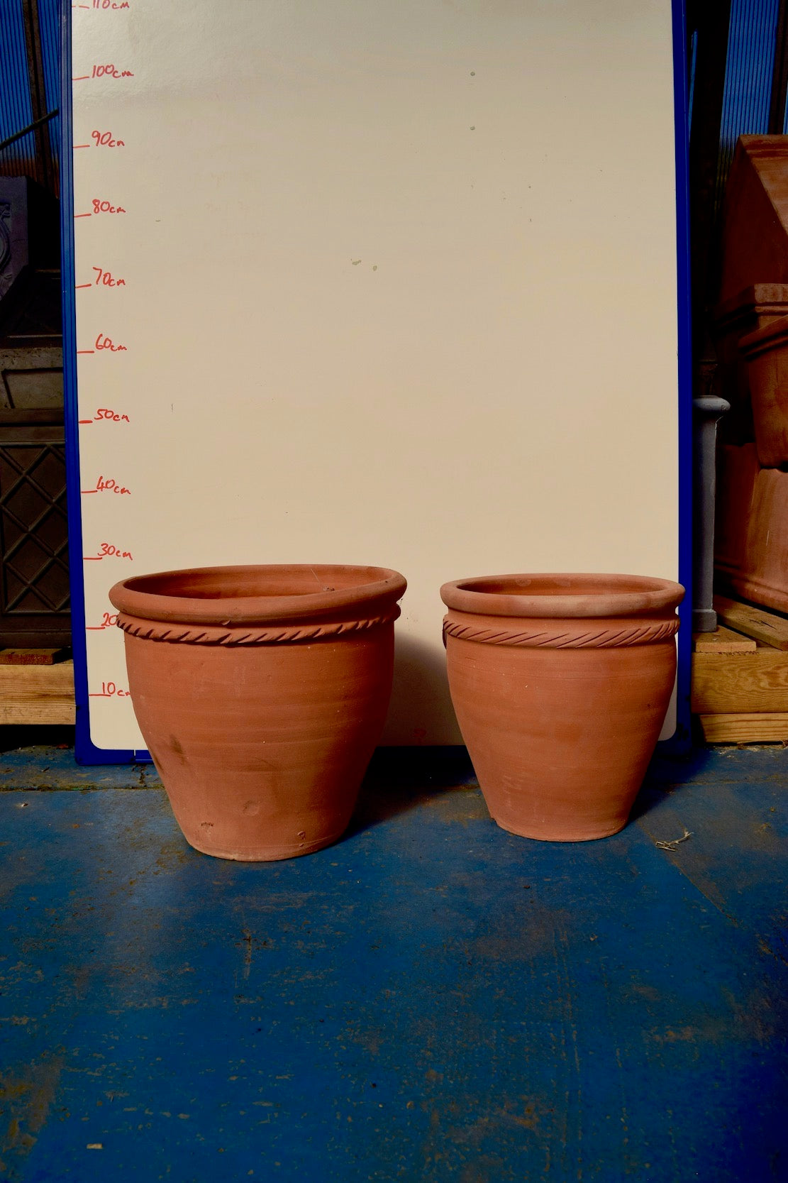 Patterned Terracotta Pots