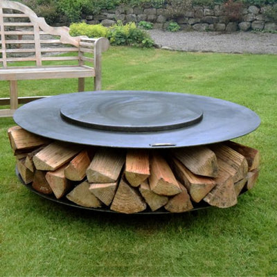 Flat Ring of Logs 120 with Swing Arm BBQ Rack