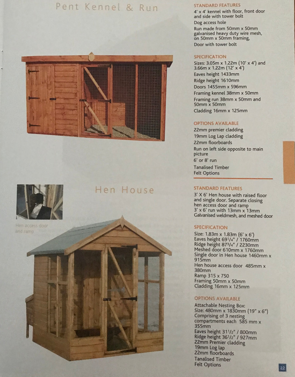 Pent Kennel & Run,   Hen House