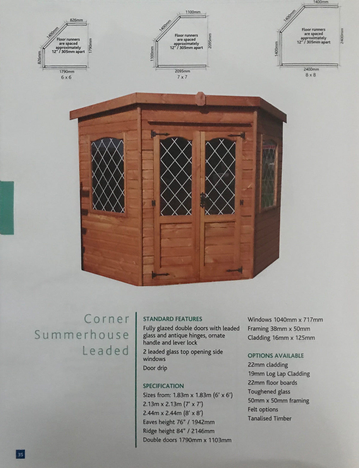 Corner Summerhouse Leaded