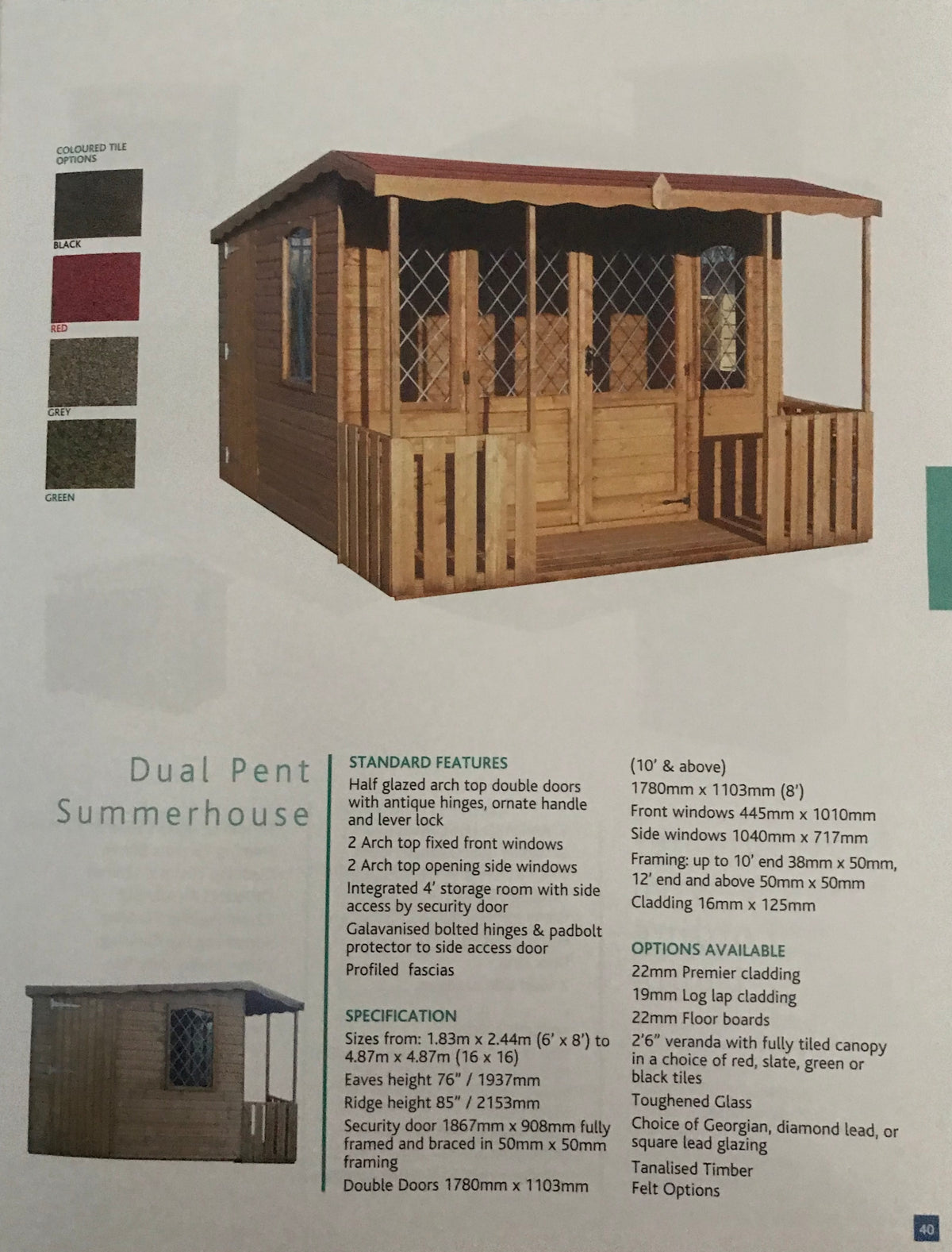 Dual Pent Summerhouse