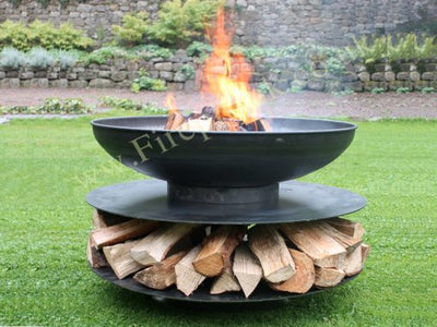 Ring of Logs 120 with 4 Swing Arm BBQ Racks