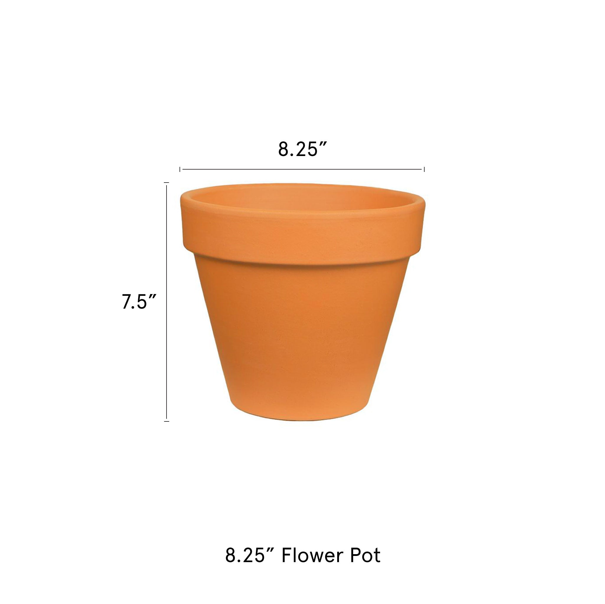 8.25-in-Flower-Pot-Terra-Cotta