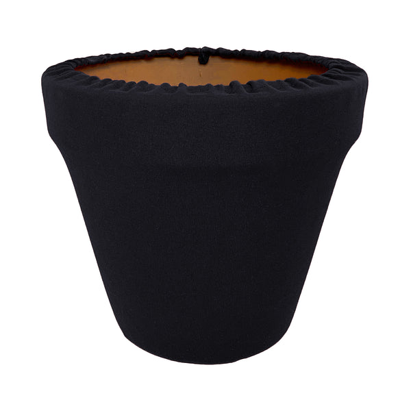 Midnight Black Flower Pot Sleeve 10 in, terra cotta, clay pot cover