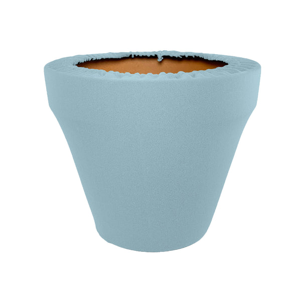 Cashmere Blue Flower Pot Sleeve 10 in, terra cotta, clay pot cover